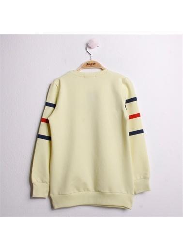 Toontoy Toontoy Kız Çocuk Sweatshirt Never Baskı - Sarı - 8 Yaş - 128Cm Boy Sarı